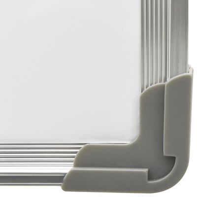 vidaXL Magnetisk whiteboard vit 120x60 cm stål