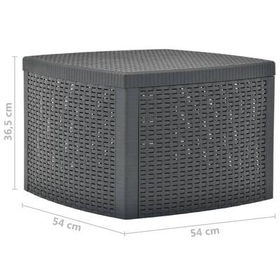 vidaXL Sidobord antracit 54x54x36,5 cm plast