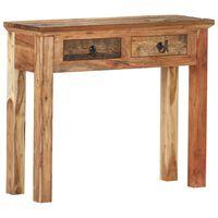 vidaXL Avlastningsbord 90,5x30x75 cm massivt akaciaträ och återvunnet trä