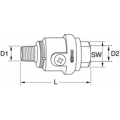 """KS Tools Dimsmörjare för tryckluftsverktyg 54 mm 1/4"""" 515.3360"""