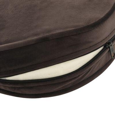 vidaXL Hundsoffa brun 69x49x40 cm plysch och konstläder