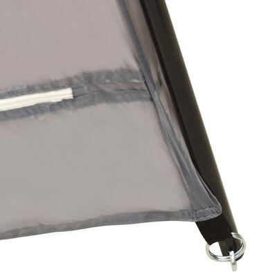 vidaXL Pooltält tyg 660x580x250 cm grå
