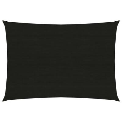 vidaXL Solsegel 160 g/m² svart 3x4,5 m HDPE