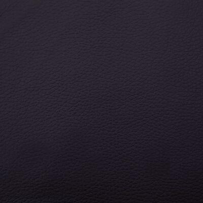vidaXL Massageschäslong med kudde svart konstläder