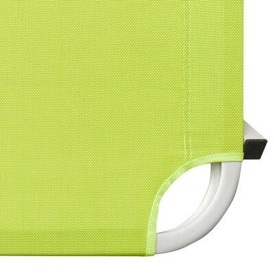 vidaXL Solsäng aluminium och textilen grön