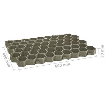 vidaXL Gräsarmering 16 st grön 60x40x3 cm plast