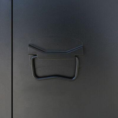 vidaXL Omklädningsskåp industriell stil metall 90x45x180 cm
