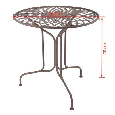 Esschert Design Trädgårdsbord metall i Old English-stil MF007