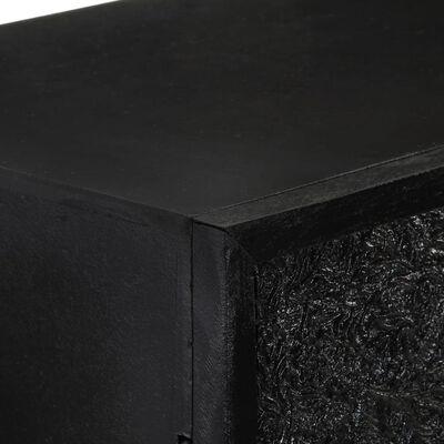 vidaXL Skänk svart 60x30x120 cm massivt akaciaträ och mangoträ