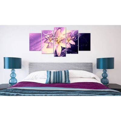 Tavla - Purple Galaxy - 100x50 Cm