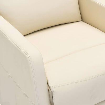 vidaXL Elektrisk reclinerfåtölj gräddvit konstläder