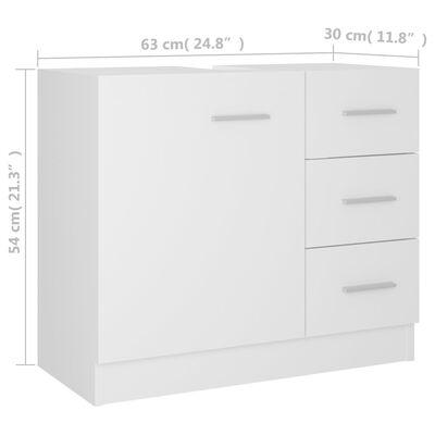 vidaXL Tvättställsskåp vit 63x30x54 cm spånskiva