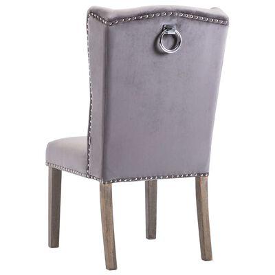 vidaXL Matstol grå sammet, Grey