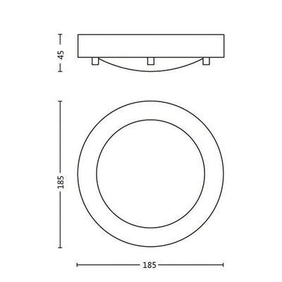 Philips Taklampa myBathroom Treats krom 320091116