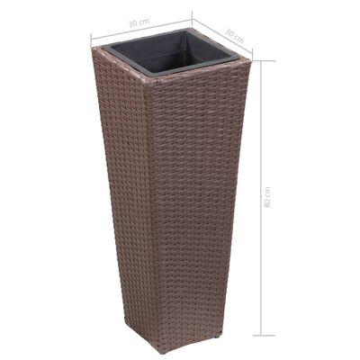 vidaXL Odlingslåda upphöjd med 30x30x80 cm konstrotting brun