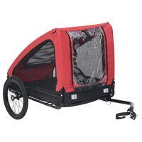 vidaXL Husdjursvagn röd och svart