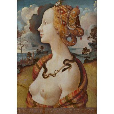 Portrait of Simonetta vespucci,Piero di Cosimo,60x42cm