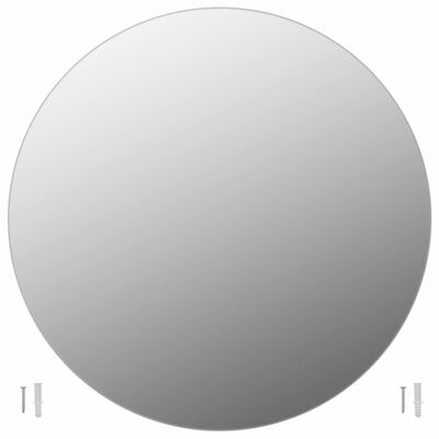 vidaXL Spegel utan ram rund 90 cm glas