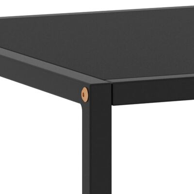 vidaXL Soffbord svart med svart glas 120x50x35 cm
