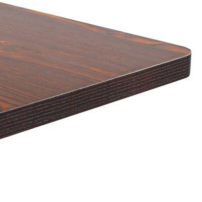 vidaXL Bistrobord mörkbrun 60X60 cm MDF