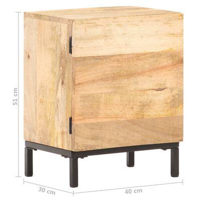 vidaXL Sängbord 40x30x51 cm massivt mangoträ