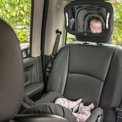 A3 Baby & Kids Bilspegel med LED 28,5x21,4x8cm svart