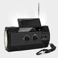 Multifunktionell Överlevnadsradio Med Solpanel Och Handvev