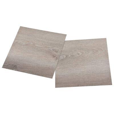 vidaXL Självhäftande golvplankor 55 st PVC 5,11 m² taupe