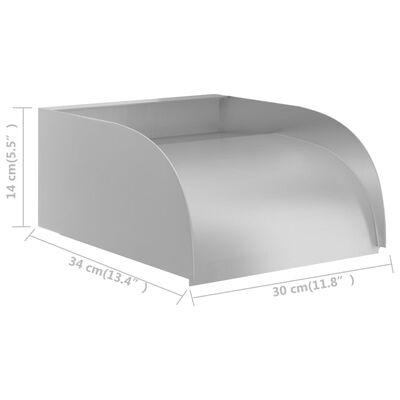 vidaXL Vattenfall 30x34x14 cm rostfritt stål 304