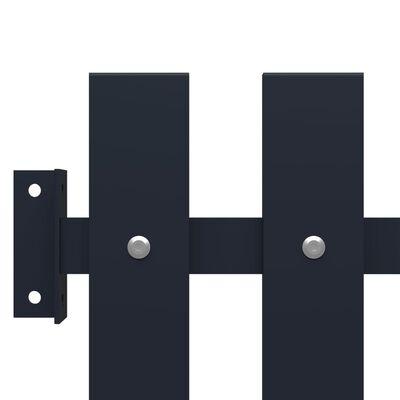 vidaXL Staketpanel antracit 170,5x170 cm pulverlackerat stål,