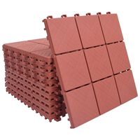vidaXL Trall 10 st röd 30,5x30,5 cm plast