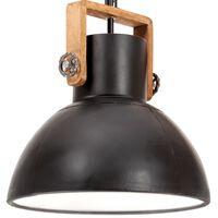 vidaXL Hänglampa industriell 25 W svart rund 40 cm E27