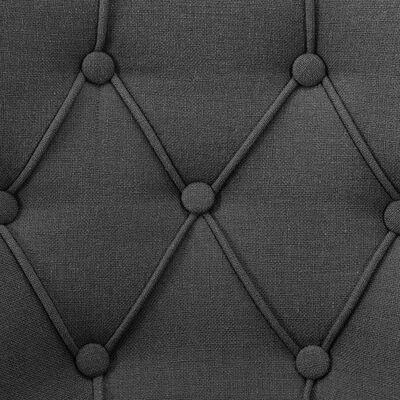 vidaXL Matstolar 2 st grå tyg