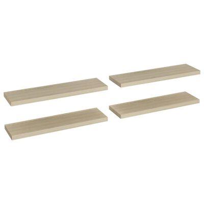 vidaXL Svävande vägghyllor 4 st ek 90x23,5x3,8 cm MDF