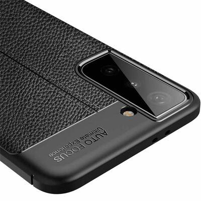 Läder Mönstrat Tpu Skal Samsung Galaxy S21 Plus-svart