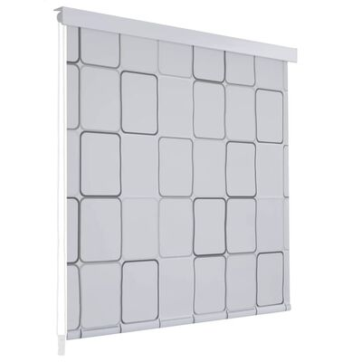 vidaXL Rullgardin för dusch 100x240 cm fyrkant