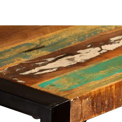 vidaXL Matbord i massivt återvunnet trä 120 cm