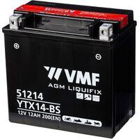 VMF Powersport Liquifix Batteri 12 V 12 Ah MF YTX14-BS