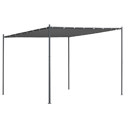 vidaXL Paviljong med snedtak 300x300x251 cm antracit 180 g/m²