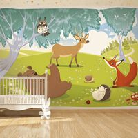 Fototapet - Funny Animals - 300x210 Cm