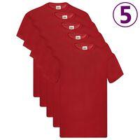 Fruit of the Loom Original T-shirt 5-pack röd stl. S bomull