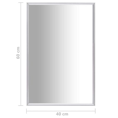vidaXL Spegel silver 60x40 cm