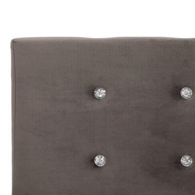 vidaXL Säng med madrass grå sammet 120x200 cm