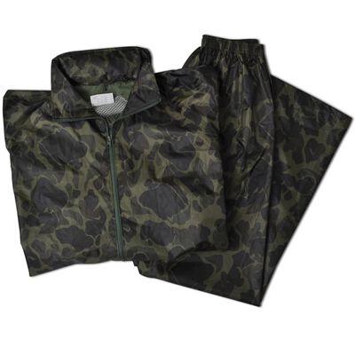 Regnställ med Huva Herrar Tvådelat Camouflage M