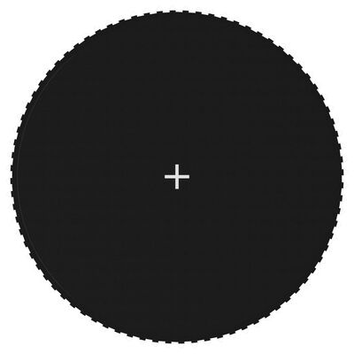 vidaXL Matta till 4,27 m rund studsmatta svart