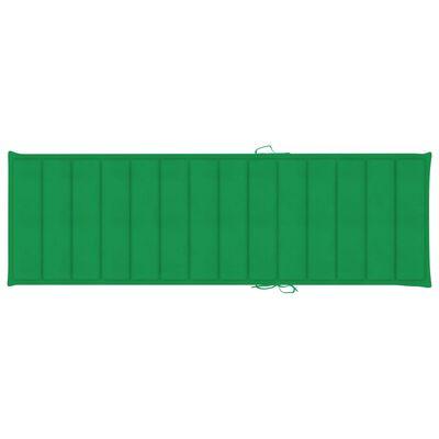 vidaXL Solsängsdyna grön 200x60x4 cm tyg