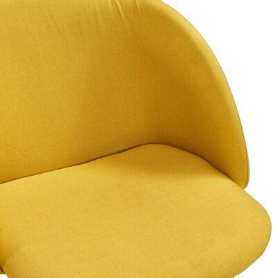 vidaXL Matgrupp 7 delar tyg gul