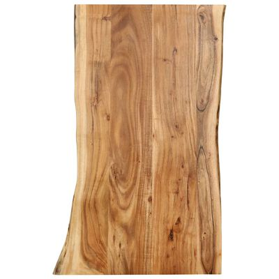 vidaXL Bordsskiva massivt akaciaträ 100x(50-60)x2,5 cm