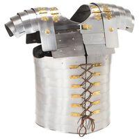 vidaXL Romersk bröst- och ryggharnesk LARP silver stål