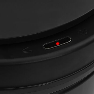 vidaXL Soptunna med automatisk sensor 80 L kolstål svart